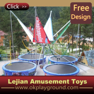 CE Popular in Europe Four Beds Bungee Trampoline (12174G) pictures & photos