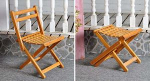 Bamboo Wood Folding Dining Chairs Modern Children Chairs (M-X2027) pictures & photos
