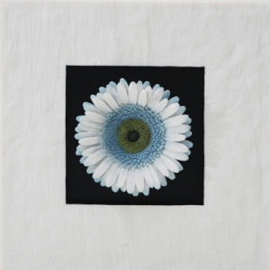 Resin Sandstone Blue Gerbera Flowers Wall-Mounted Decoration for Home Decoration or Hotel Decoration