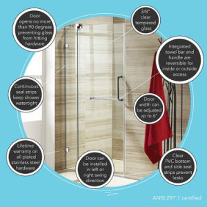 8mm Frameless Tempered Glass Shower Door/Shower Room/Shower Enclosure with Ce pictures & photos
