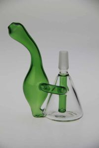 Mini Clear and Green Glass Pipe Oil Burner Water Pipe Hookah pictures & photos