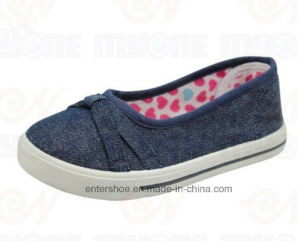 Vulcanized Jeans Children Comfort Shoes for Girls (ET-MY170428K) pictures & photos