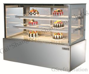 Square Stainless Steel Display Cabinet Refrigeration