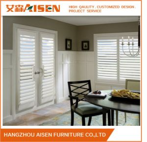 Hangzhou Modern Customized Interior Wooden Security Window Shutters pictures & photos