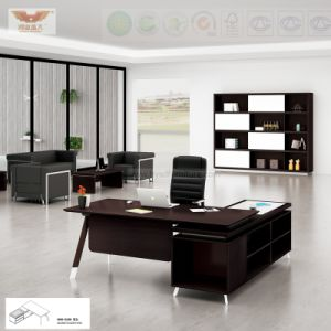 Office Furniture Black L Shape Executive Desk (H80-0169)