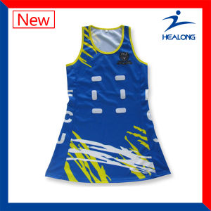Healong Netball Uniforms Sublimtion Netball Jersey pictures & photos