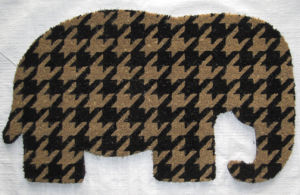 Animal Shape/Shaped Leopard Tiger Lion Pig Cow Elephant Dog Cat Pet Fish Flower Butterfly Coco Coir Fiber Coconut Welcome Entrance Door Floor Rugs Carpets pictures & photos
