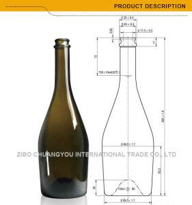 750ml Champagne Sparking Wine Bottle Dark Green (430) pictures & photos