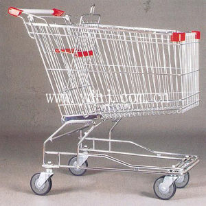 China Supplier Metallic Asia Type Shopping Cart with Chair pictures & photos