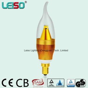 5W Flame Shape 90ra CREE Chip Golden Candle Light (LS-B305-GB-A-CWW/CW) pictures & photos