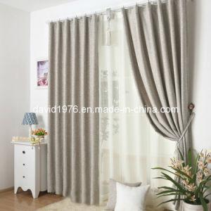 Faux Linen Blackout Window Pinch Pleat Curtain/Panel (SZSMEBP038)