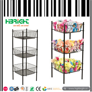 Wholesale Supermarket Powder Coated Round Bin Display Stand pictures & photos