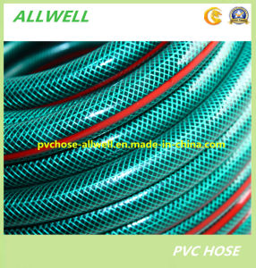 Plastic PVC Fiber Reinforced Braided Watergarden Hose Pipe pictures & photos