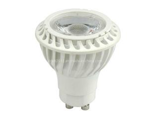 New Thermal Plastic COB LED Bulb GU10 Spotlight 7W 35deg pictures & photos