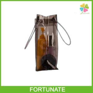 Clear 2 Sacks PVC Plastic Wine Bottle Gift Bag pictures & photos