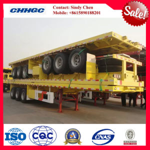 Flatbed Truck Trailer / Container Semi Trailer with 3 Axle pictures & photos