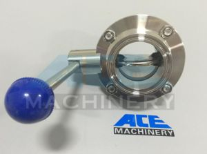 Stainless Steel Food Grade Butt Weld Butterfly Valve (ACE-DF-R1) pictures & photos