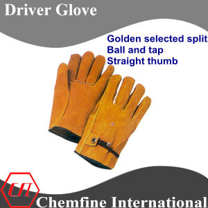 Golden Select Split, Ball and Tap, Straight Thumb Leather Driver Glove pictures & photos