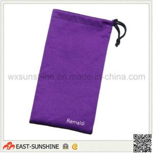 Wholesale Microfiber Single-Side Drawstring Sunglasses Bag pictures & photos