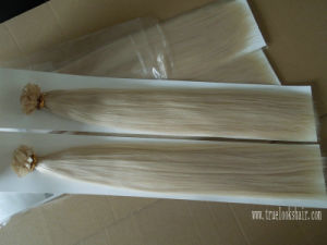 Remy Hair Double Drawn Flat Tip