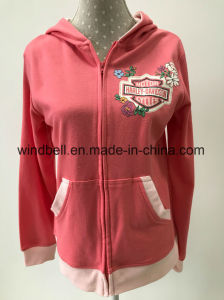 Princess Style Hoody Sportswear for Girl with Glitter Print pictures & photos
