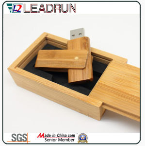 Wooden Bamboo USB Flash Stick Memory Drive Key Disk Box (YLH204) pictures & photos