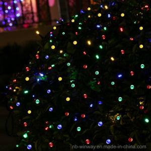 Solar Powered 100 LED Colorful Outdoor Christmas String Light pictures & photos
