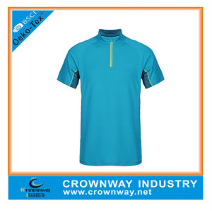 Wholesale 100% Polyester Running Sports Tops for Men pictures & photos