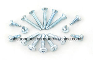 Pan Farming Head Serrated Self Drilling Screw with Zinc Plated pictures & photos