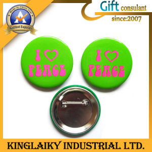 Souvenir Tin Badge with Logo for Promotional Gift (KBG-001) pictures & photos
