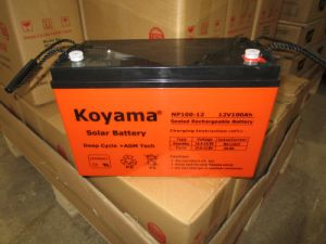 AGM Sealed Lead Acid Battery for UPS 12V100ah pictures & photos