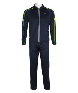 Slim Fit Men′s Hooded Tracksuit Tops Full Zip up Gym Tracksuit pictures & photos