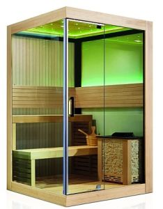 New Luxury 2 People Africa White Wood Mini Family Portable Dry Sauna Room pictures & photos