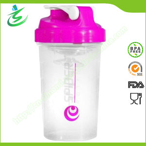 500ml Wholesale Spider Shaker Bottle with Plastic Mesh pictures & photos