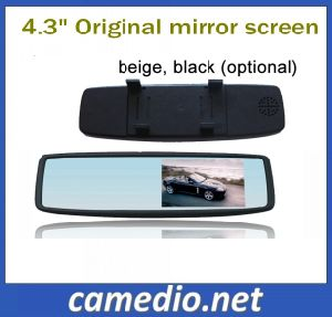 Universal Car Rearview Mirror Monitor with 4.3 Inch HD LCD Screen with 2 Way AV Input pictures & photos