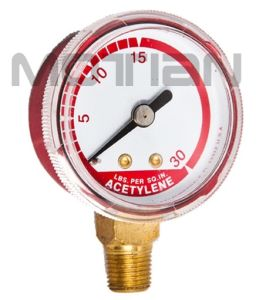 1.5 Inch Steel Screw Surface Case Pressure Gauge with Safety Requirement