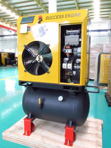 4kW 5HP Screw Air Compressor with Air Tank (SEC4A) pictures & photos