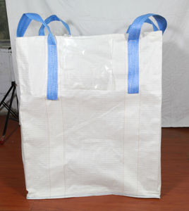 White Cross Corner Loops PP FIBC Big Bag pictures & photos