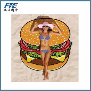 Promotional Wholesale Custom Reactive Printed Beach Towel pictures & photos
