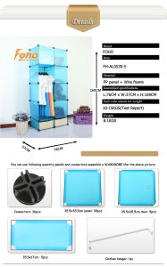 Blue Plastic DIY Storage Cbinet with Many Colors Available (FH-AL0530-5) pictures & photos