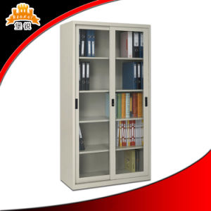 Customized Modern Metal Glass Door Filing Cabinet with Good Quality pictures & photos