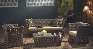 Outdoor Leisure Wicker Furniture- Rattan Sofa (F858)