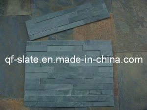 High Quality Natural Green-Grey Slate Ledger Stone Wall Panel