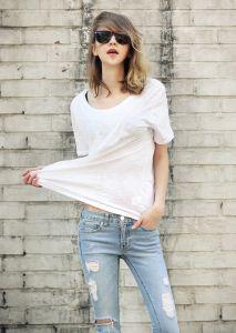 Fashion Style Casual Plain 100% Cotton Slub T Shirt pictures & photos