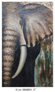Handmade Wild Animal Elephant Decorative Oil Painting (LH-700600) pictures & photos