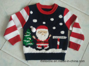 Santa Intarsia with 3D Pompom Sweater pictures & photos