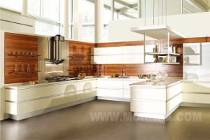 China MDF Lacquer High Gloss Kitchen Cabinet with ISO Standard