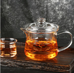 Small High Borosilicate Glass Tea Pot for Wholesale pictures & photos