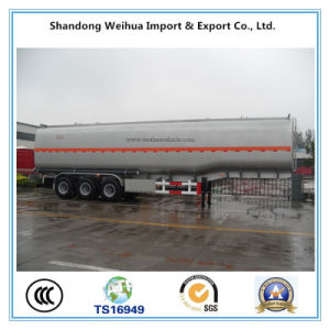30-50m3 Fuel Tank Semi Trailer with 3 Fuwa Axles pictures & photos