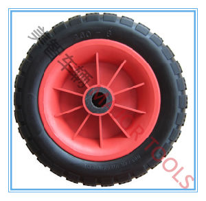 Flat Free PU Foam Hand Truck Wheel 12X3.50-6 with Roller Bearing pictures & photos